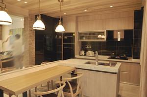 118平米新中式风格三室两厅室内装修实景图