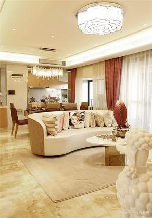 90平米新中式风格精美室内设计装修效果图