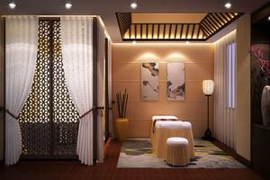 中式风格古典美容院设计装修效果图