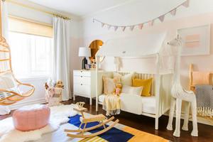北欧风格简约甜美儿童房设计装修图
