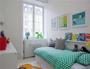 北欧风格精致自然三室两厅室内装修效果图