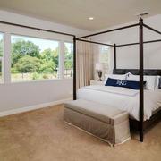 简欧风格精致别墅卧室设计装修效果图