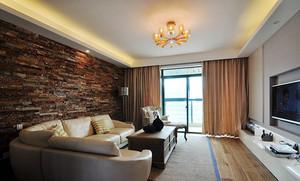 简约美式风格精美三室两厅两卫装修效果图