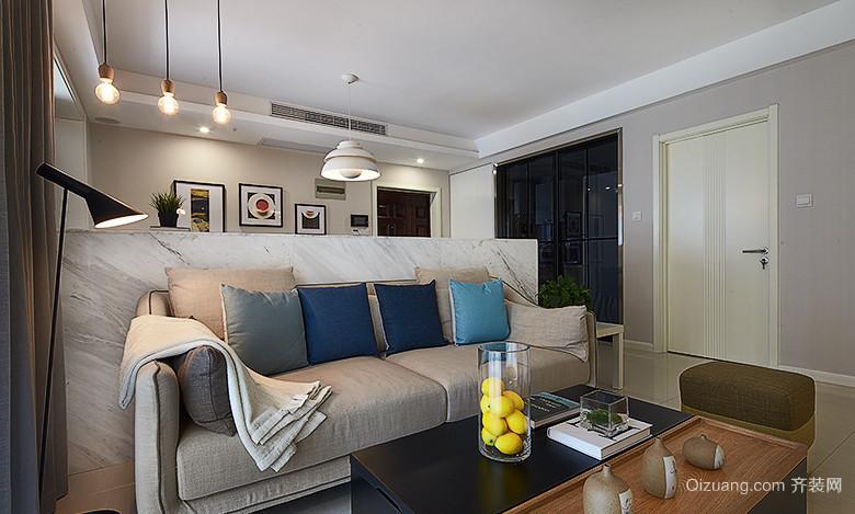现代简约风格客厅隔断墙设计装修效果图