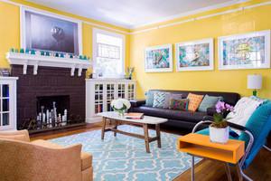 美式风格时尚客厅设计装修效果图