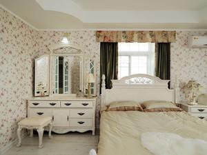 欧式田园风格精致卧室梳妆台装修效果图