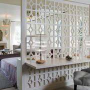 欧式风格精美别墅客厅隔断装修效果图