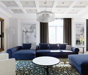 现代风格时尚两室两厅一卫室内设计装修效果图