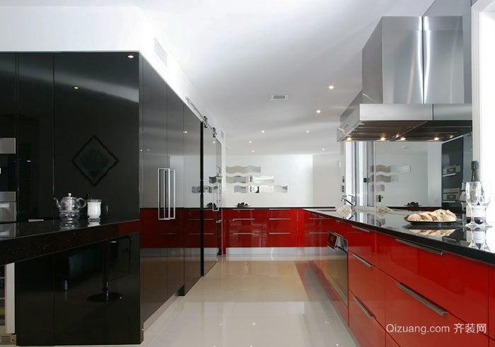 现代风格时尚整体厨房装修效果图赏析