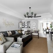 新中式风格大户型精致客厅装修效果图
