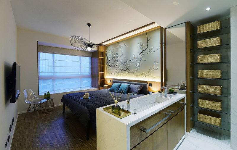 新中式风格典雅卧室设计装修效果图