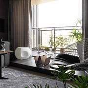 中式风格精致雅韵阳台设计装修效果图