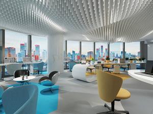 现代简约风格时尚小型办公室装修效果图