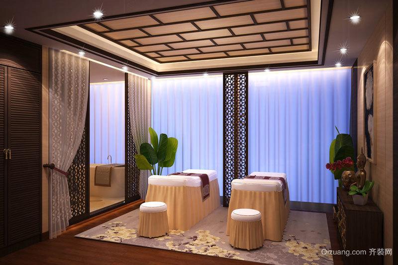 中式風格精致美容院包廂設計裝修效果圖