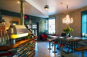 美式风格创意咖啡厅设计装修效果图