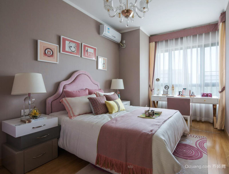 简欧风格精致甜美儿童房设计装修效果图