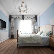 美式风格清新时尚卧室设计装修效果图