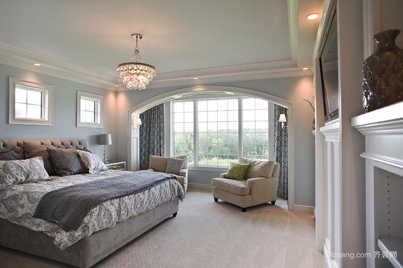 欧式风格别墅室内精致卧室设计装修效果图