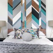 现代风格创意精美卧室背景墙装修效果图