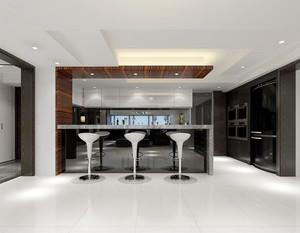 现代简约风格三室两厅室内设计装修实景图
