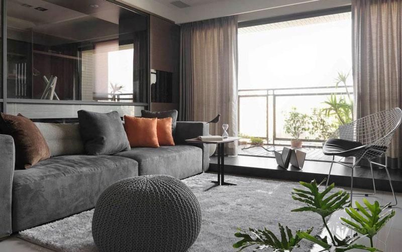 现代风格小户型客厅设计装修效果图鉴赏