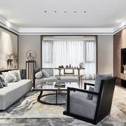 新中式风格素雅精美客厅设计装修效果图赏析
