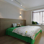 宜家风格简约卧室飘窗设计装修效果图赏析