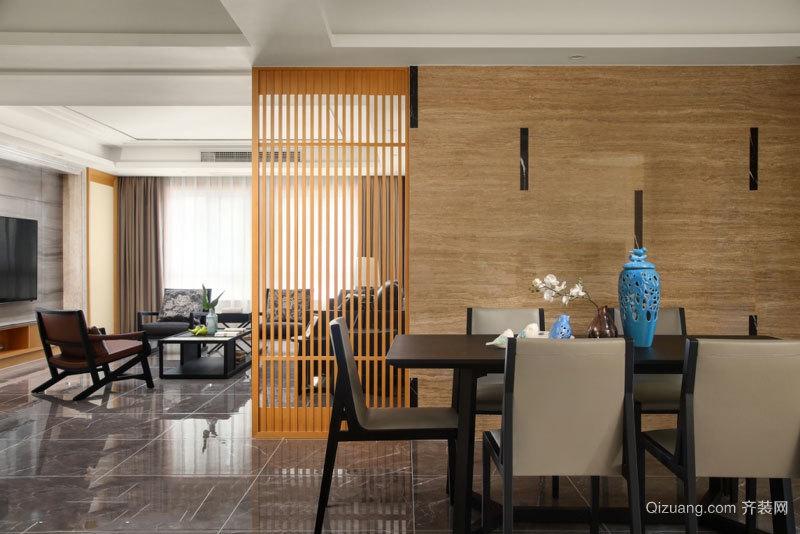 中式风格餐厅隔断设计装修效果图