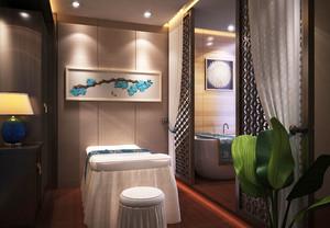 中式风格精致美容院包厢设计装修图