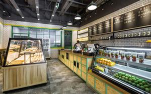 现代风格精致面包店设计装修效果图