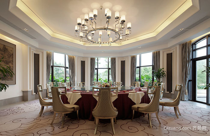 欧式风格古典精致酒店包厢设计装修图