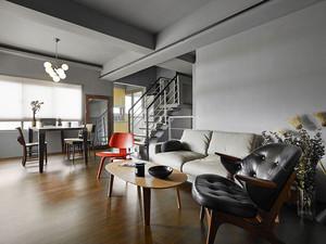 110平米简约风格复式楼室内装修效果图