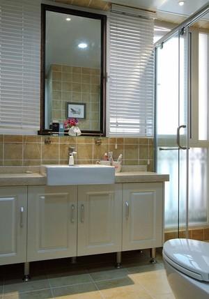 89平米简约美式风格两室两厅室内设计装修效果图