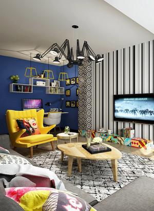 64平米简约风格一居室装修效果图