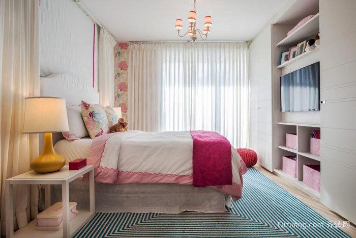 欧式风格甜美女生儿童房设计装修效果图