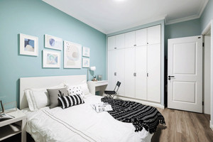 清新风格自然简约卧室设计装修效果图