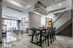 新中式风格精致典雅餐厅设计装修效果图