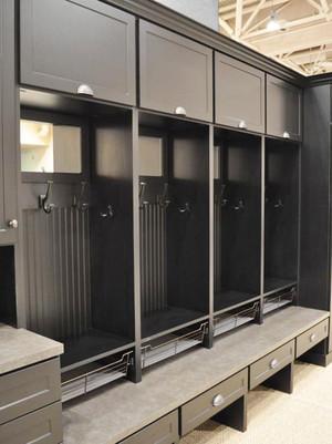 美式风格精致大户型玄关鞋柜装修效果图