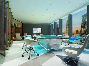 现代简约风格小型会议室装修效果图