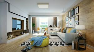 61平米北欧风格简约一居室室内设计装修效果图