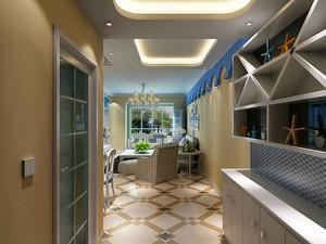 地中海风格经典蓝色一居室室内装修效果图
