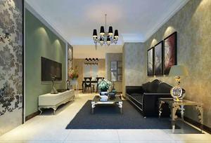68平米简欧风格精致一居室室内装修效果图