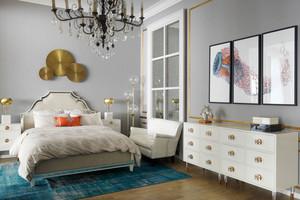 简欧风格精美温馨卧室设计装修效果图