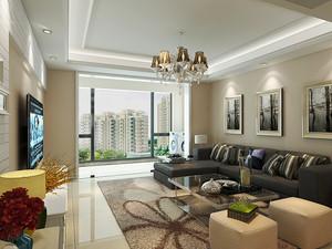 简欧风格精美一居室室内设计装修效果图