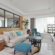 简约风格时尚温馨客厅飘窗装修效果图