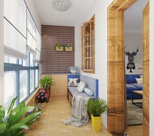 简约美式风格轻松舒适两室两厅室内装修效果图