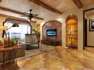 90平米美式乡村风格精致室内设计装修效果图