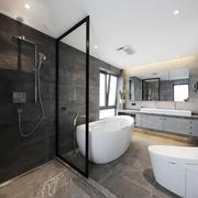 12平米现代风格卫生间设计装修效果图