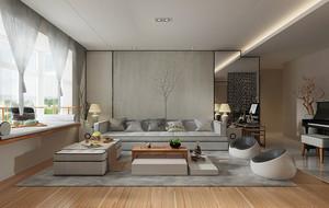 新中式风格精致素雅时尚大户型室内装修效果图