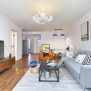 宜家风格简约客厅设计装修效果图